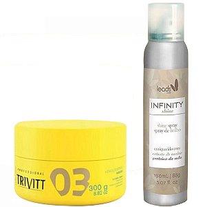 Trivitt e Leads Care - Kit Spray de Brilho Brilho e Máscara de Hidratação 300g