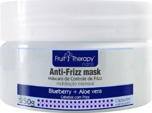 Left - Fruit Therapy Nano Blueberry e Aloe Vera Máscara Controle de Frizz 250g