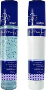 Left - Fruit Therapy Nano Blueberry e Aloe Vera Kit Shampoo e Condicionador Cabelos Volumosos 275ml