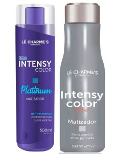Lé Charme's - Intensy Color Kit Roxo + Prata Máscaras Matizadoras 500ml