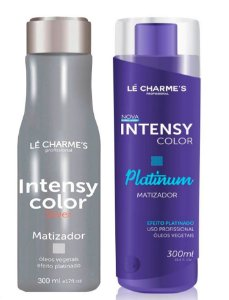Lé Charme's - Intensy Color Kit Roxo + Prata Máscaras Matizadoras 300ml