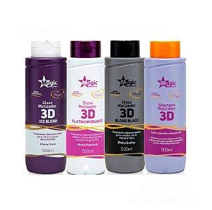 Magic Color - Kit Gloss 3D Shampoo e Matizadores 500ml cada - NOVA EMBALAGEM Vencimento 09/2017