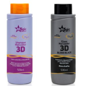 Magic Color - Kit 3D Shampoo 500ml + Matizador 3D Blond Black 500ml