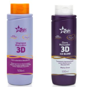 Magic Color - Kit 3D Shampoo 500ml + Matizador 3D Ice Blond 500ml Vence Novembro 2017