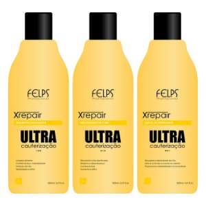 Felps - Xrepair Kit Ultra Cauterização com 3 passos 500 ml Cada