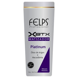 Felps - Platinum Matizador Redutor de Volume Óleo de Argan e Macadâmia 1kg (Creme Alisante)
