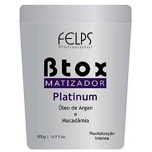 Felps - Platinum Matizador Redutor de Volume Óleo de Argan e Macadâmia 500g (Creme Alisante)