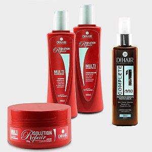 DiHair - Kit Complete One + Solution Repair Home Care (Shampoo, Condicionador, Máscara)