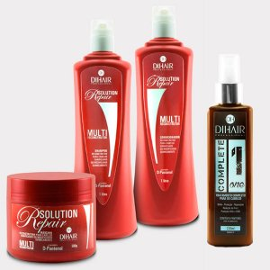DiHair - Kit Complete One + Solution Repair Profissional (Shampoo, Condicionador, Máscara)