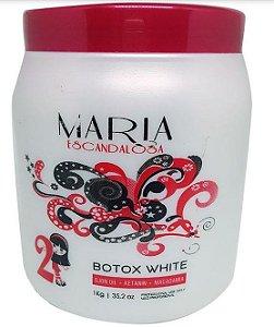 Maria Escandalosa - Beautox White Ojon, Macadâmia e Argan 1kg (Creme Alisante)  NOVA EMBALAGEM
