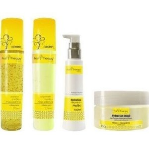 Left - Fruit Therapy Nano Melão Kit Completo (Shampoo 275ml + Condicionador 275ml + Máscara 250g + Leave in 160ml)