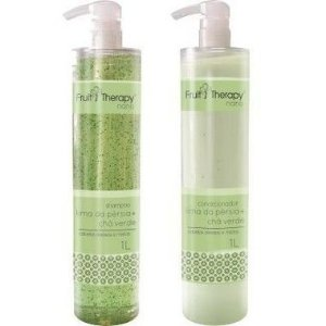 Left - Fruit Therapy Nano Lima da Pérsia Kit (Shampoo + Condicionador) Cabelos Oleosos 2x1000 ml
