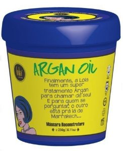 Lola Cosmetics - Máscara Reconstrutora Argan Oil/Pracaxi 230g
