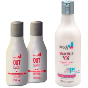Leads Care - Kit Out Color Removedor de Coloração e Mary Help SOS Blindagem 500ml