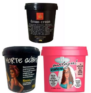 Lola Cosmetics - Kit Cronograma Milagre 930g + Morte Súbita 930g + Dream Cream 450g