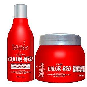 Forever Liss Color Red - Kit Manutenção Cabelo Vermelho e Ruivo (Shampoo 300ml + Máscara 250g)