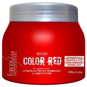 Forever Liss - Color Red Máscara Manutenção Cabelo Vermelho e Ruivo 300g