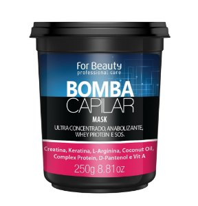 For Beauty - Bomba Capilar Máscara Reconstrução 250g