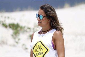 LIVE BEACH ALOHA branca
