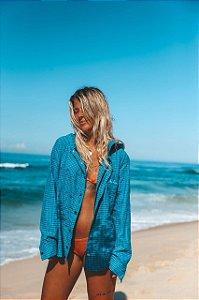 Camisa de Flanela Azul