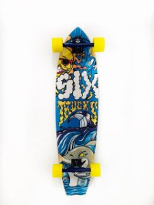 "Skate Long Gota Cruiser Roda Marfin 70 MM Mole USA 43"" x 10"""