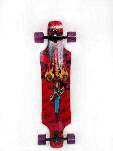"""Skate Simétrico Vazado Roda 70 MM Slalom 40"""" x 9"""""""