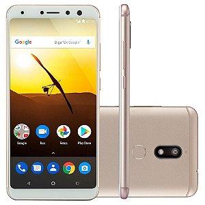 SMARTPHONE MULTILASER MS80 32GB DOURADO/BRANCO