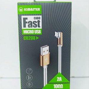CABO KIMASTER MICRO USB V8 -2A CABO FAST CB208
