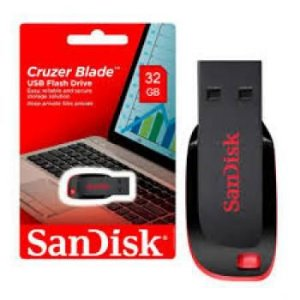 PEN DRIVE 32GB SANDISK CRUZER FIT BLADE