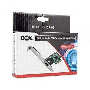 PLACA DE REDE PCI-EXPRESS 10/100/1000 DP-02 DEX
