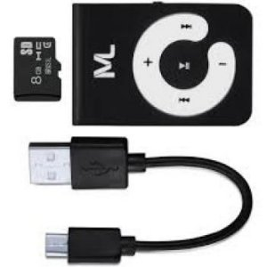KIT MP3 PLAYER + MICRO SD 8GB MULTILASER MC300