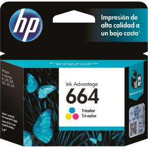 CARTUCHO DE TINTA HP 664 TRICOLOR ORIGINAL F6V28AB