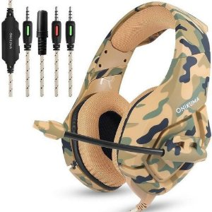 HEADSET GAMER ONIKUMA K1 - PS4/XBOX ONE/PC/ANDROID/IOS - CAMUFLADO