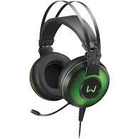 Headset Gamer Warrior Raiko USB 7.1 3D Digital Surround Sound LED Verde - PH259