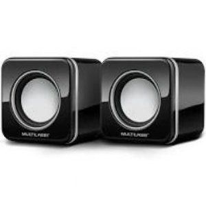 Mini Black Multilaser 2.0 4W RMS USB Preta - SP089