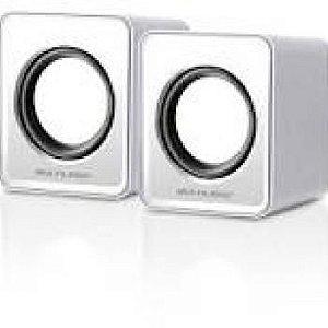 Caixa De Som Multilaser Mini 2.0 3W Rms USB Branco - SP199