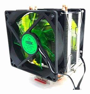 COOLER LED VERDE INTEL/AMD DUPLO FAN DX-9100D