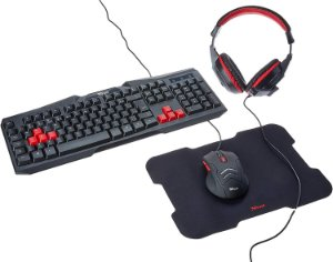 KIT GAMER 4X1 TECLADO + MOUSE + MOUSEPAD + HEADSET KB502CM HAVIT
