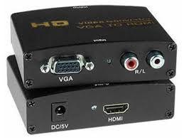 CONVERSOR VGA E HDMI COM ÁUDIO E FONTE JC-1188