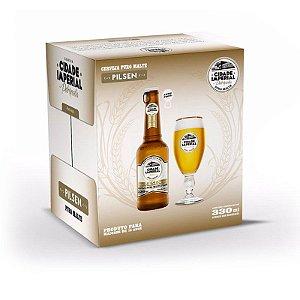 Cerveja Cidade Imperial Pilsen Long Neck 330ml com tampa abre fácil caixa com 6