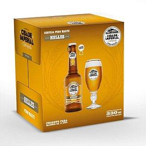 Cerveja Cidade Imperial Helles Long Neck 330ml com tampa abre fácil caixa com 6
