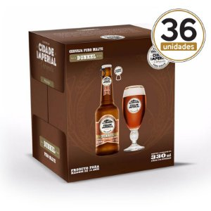 Kit Mini Festa Cidade Imperial com 36 Long Necks Dunkel com 330ml com tampa abre fácil