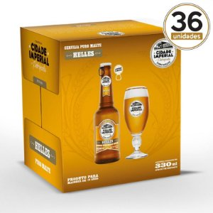 Kit Mini Festa Cidade Imperial com 36 Long Necks Helles 330ml com tampa abre fácil