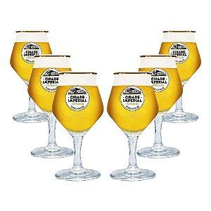 Conjunto com 6 Taças de Cristal Beer Sommelier 430ml - Cidade Imperial