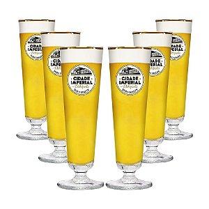 Conjunto com 6 Taças de Cristal Gourmet 250ml - Cidade Imperial