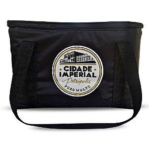 Bolsa Térmica 15 litros Preta - Cerveja Cidade Imperial