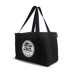 Bolsa Térmica 12 litros Preta - Cerveja Cidade Imperial