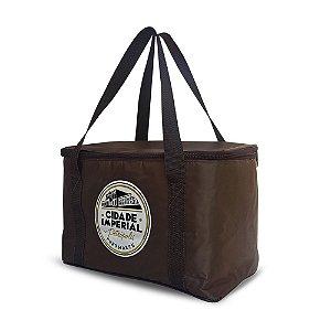 Bolsa Térmica 12 litros Marrom - Cerveja Cidade Imperial