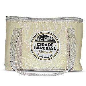Bolsa Térmica 15 litros Creme - Cerveja Cidade Imperial