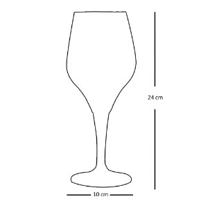 Conjunto com 6 Taças de Cristal Beer Elegance 500ml - Cidade Imperial